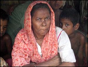 A Rohingya woman in Myanmar