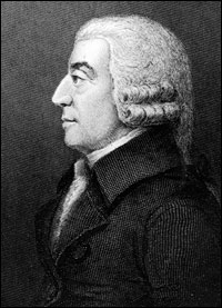 Scottish political economist and philosopher Adam Smith