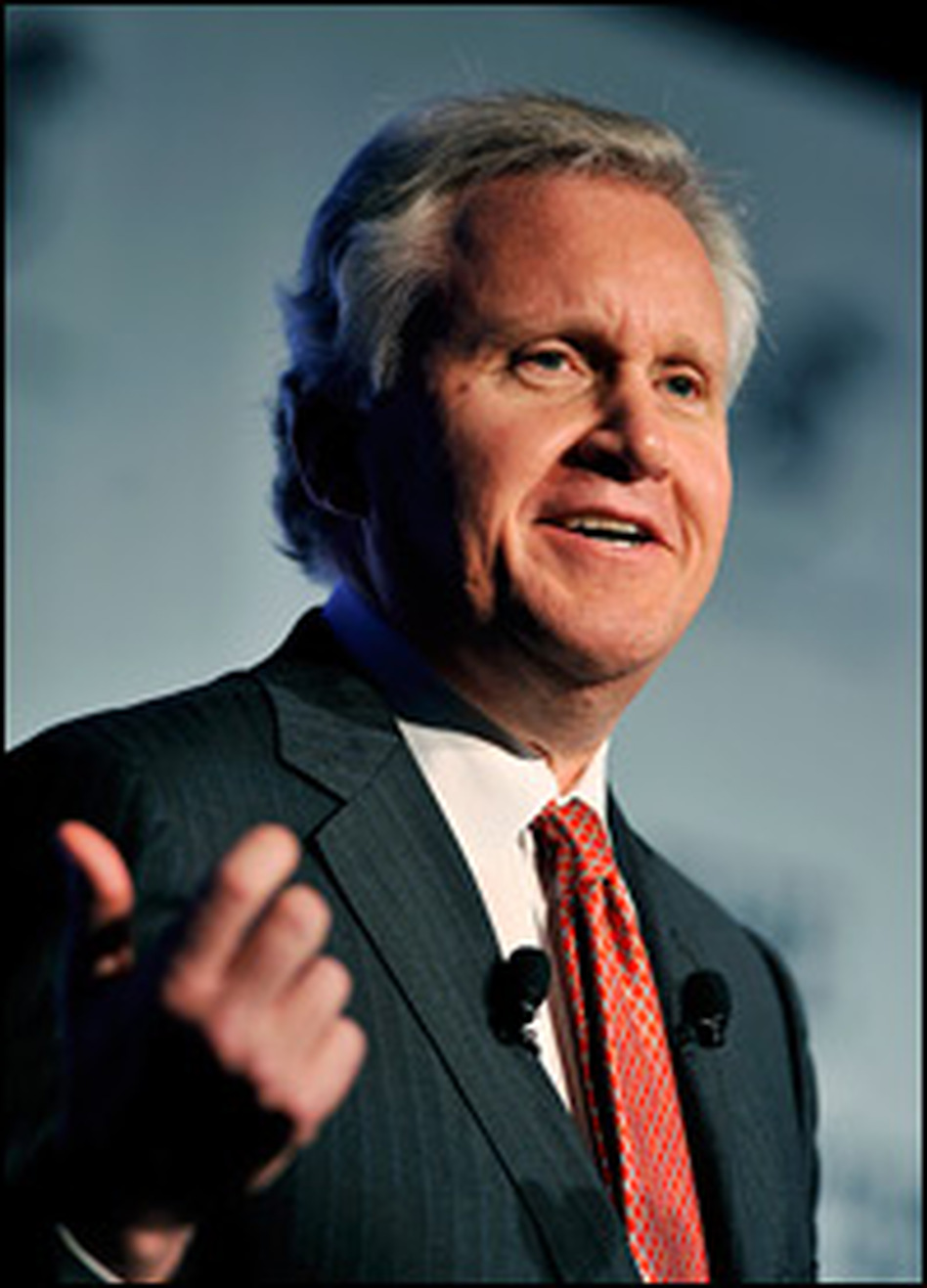 General Electric CEO Jeffrey Immelt spoke at an economic forum in Montreal earlier in June. Immelt says GE received its largest orders ever during the depths of the recession.