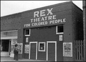 The Rex Theatre For Colored People in Leland, Miss., shown in 1937