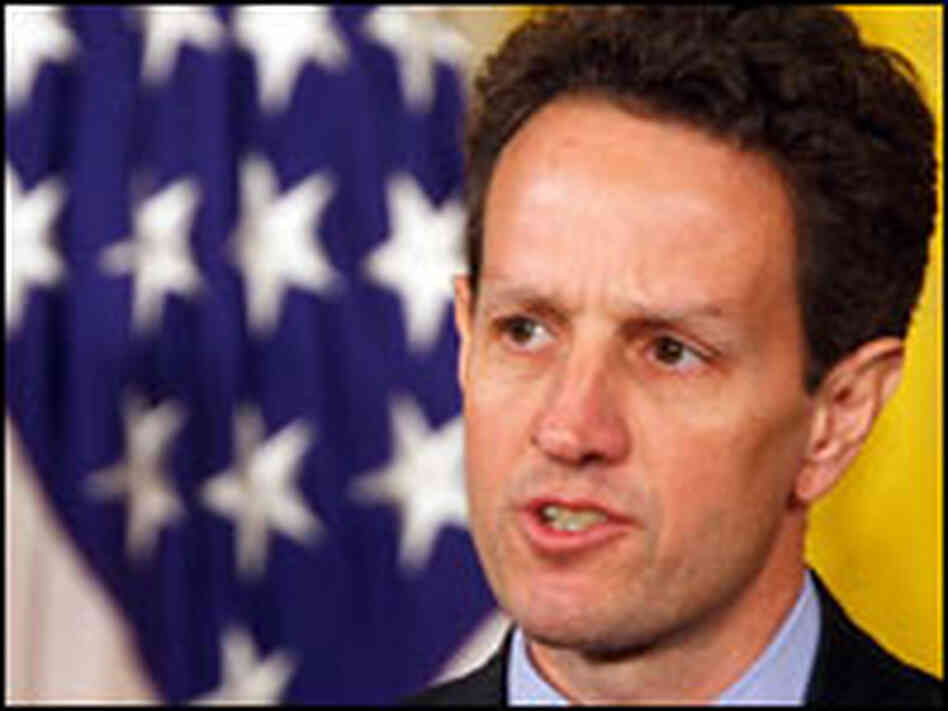 Treasury Secretary Timothy Geithner speaks at the White House on March 16.