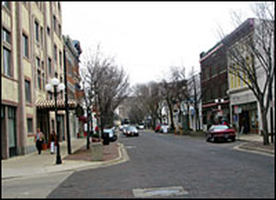 The historic Oregon district in Dayton, Ohio, is full of bars, coffeehouses and shops.