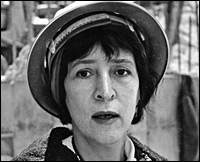 Helen Levitt, circa 1963, while producing the film 'An Affair of the Skin' by Ben Maddow.