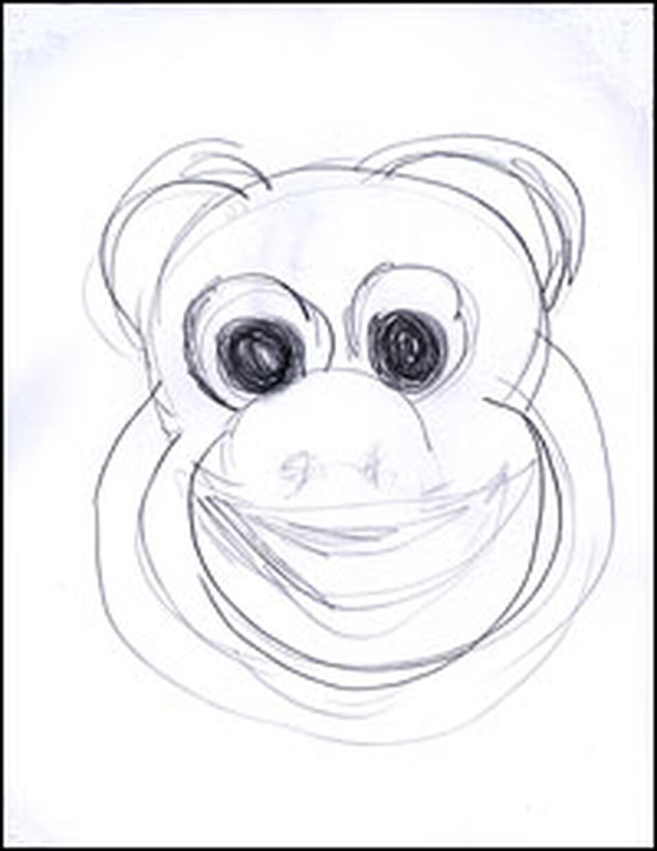 Michele Norris' sketch of Curious George