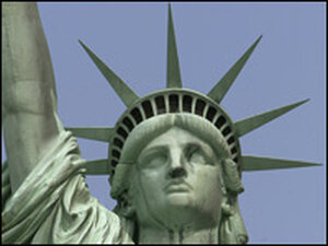 The Statue of Liberty's crown has 25 windows and seven spikes.