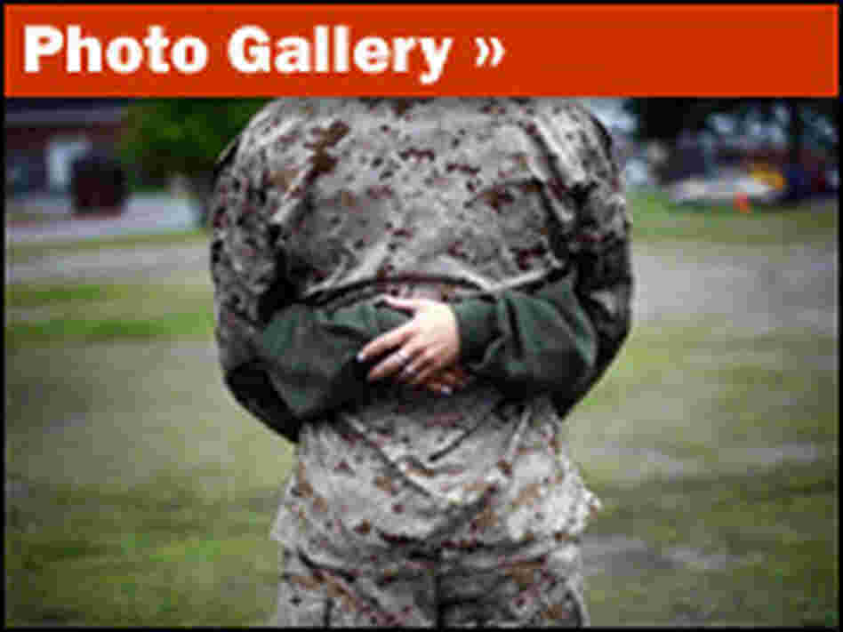 A slideshow of Marines saying goodbye at Camp Lejeune