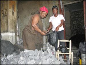 Haitian charcoal seller