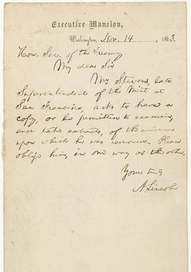Lost Lincoln Letter Donated To National Archives   Npr