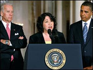 Vice President Joe Biden, Judge Sonia Sotomayor and President Obama