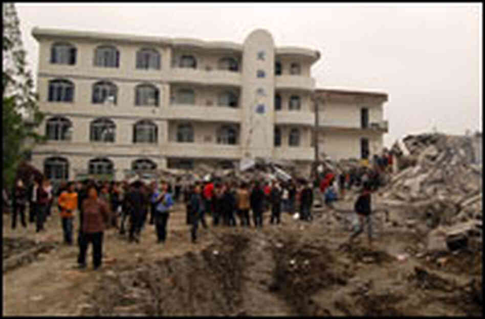 Last May, the Juyuan Middle School outside the city of Dujiangyan collapsed in the