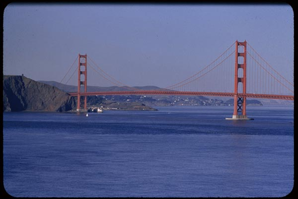 golden gate bridge 1955