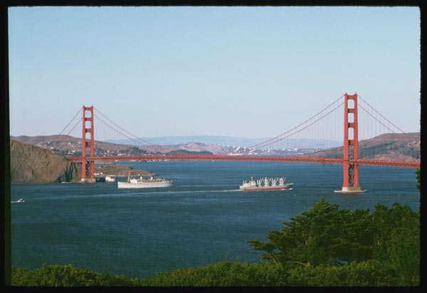 golden gate bridge 1962