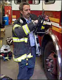Steve Marsar at Engine Company 58 in Harlem.