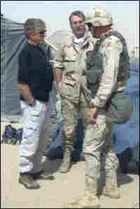 Leroy Sievers and Ted Koppel in Iraq.