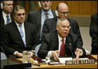 Secretary of State Colin Powell addresses the U.N. Security Council