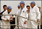 U.N. weapons inspectors search a water facility near Baghdad