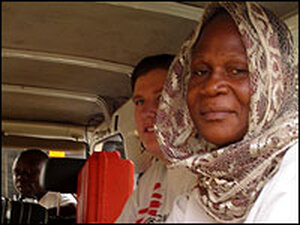 Nurse Patricia Omietimi, right, and Dr. Claire Colette of Doctors Without Borders.