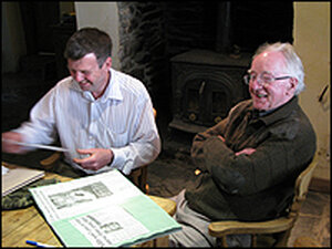 Dr. Martin Rankin (l)  and Jack Tagg