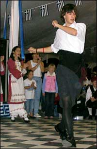 Greek immigrants dancing at their annual festival in Pensacola, FL.