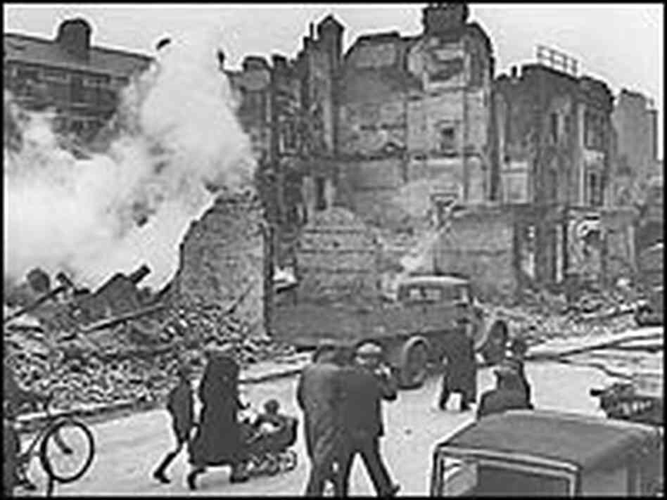 German bombing raids on London throughout World War II left much of the city in rubble.
