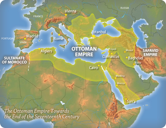 The Ottoman Empire towards the end of the 17th Century