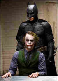 Heath Ledger and Christian Bale in 'The Dark Knight'