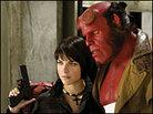 Hellboy and Liz in closeup