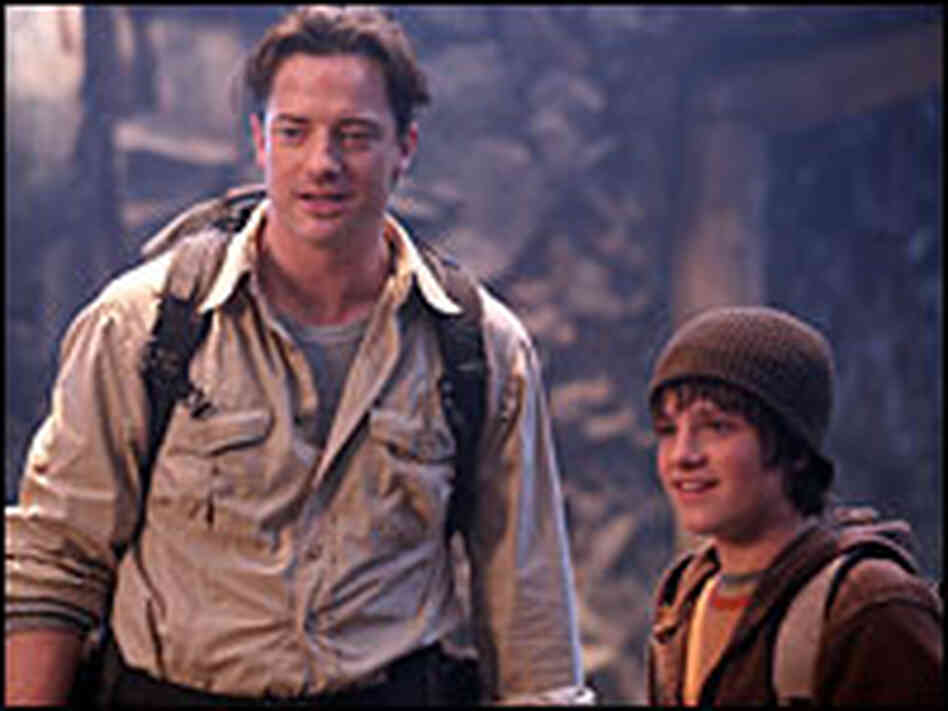Brendan Fraser with Josh Hutcherson