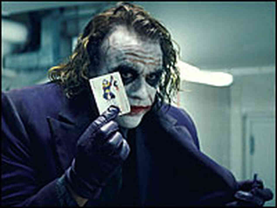 The late Heath Ledger captivated audiences as The Joker.