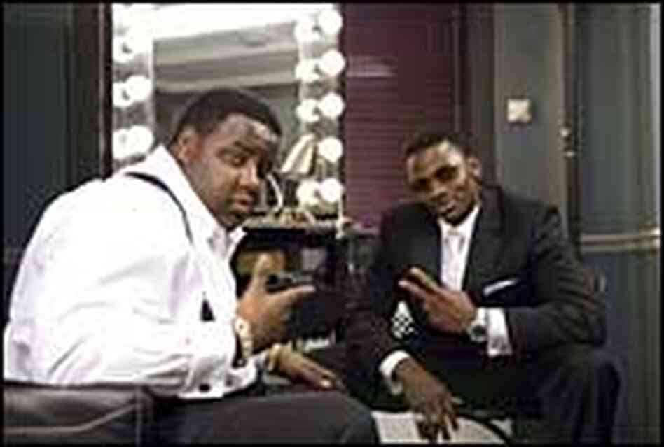 Biggie Smalls (Jamal Woolard) and Sean Combs (Derek Luke)