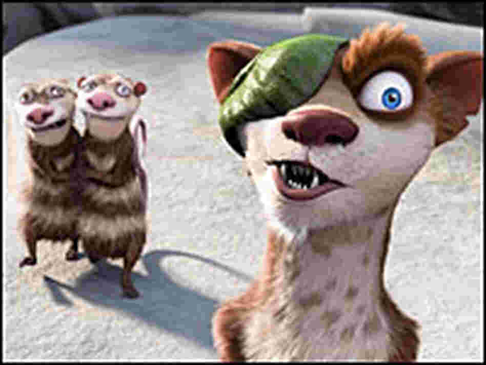 Buck, Crash, and Eddie in 'Ice Age'