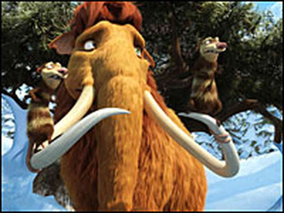 Ellie, Crash and Eddie in 'Ice Age'