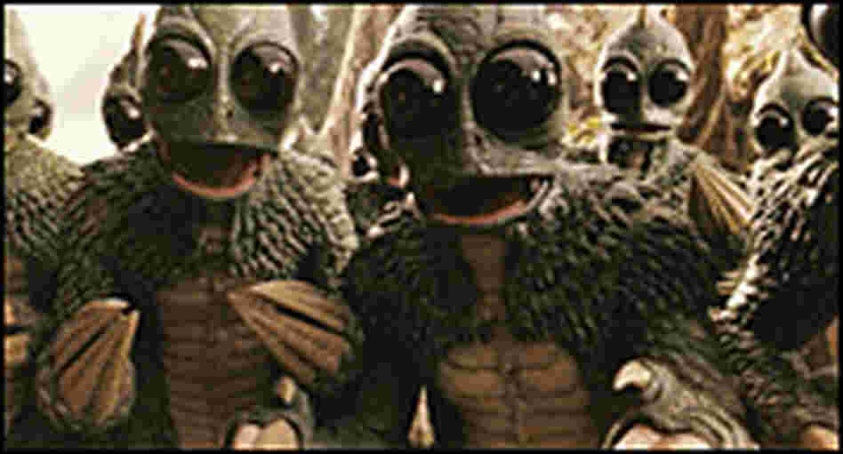 The Sleestak in 'Land of the Lost'