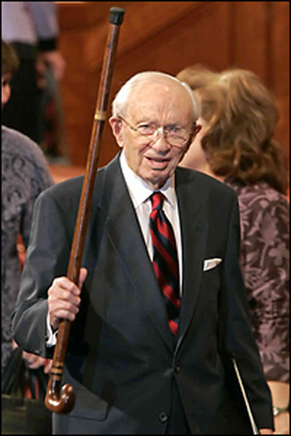 Gordon B. Hinckley in 2006. Credit: George Frey/Getty Images.