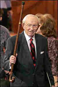 Gordon B. Hinckley in 2006. Credit: George Frey/Getty Images.