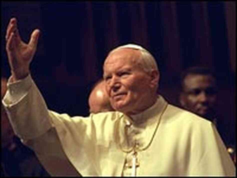 Pope John Paul II at the U.N.