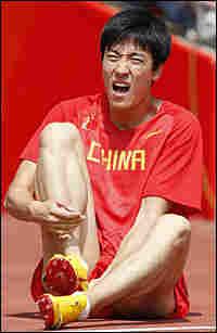 Liu Xiang withdraws from the 110-meter hurdles race in Beijing.
