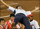 Japanese softball celebrates win