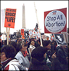 A crowd at the 1997 March for Life in Washington, D.C.
