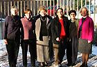Laura Chasin, Melissa Kogut, Francis Hogan, NPR's Margot Adler, Madeline McComish and Anne Fowler