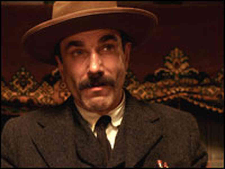 "Daniel Day-Lewis plays Daniel Plainview in ""There Will Be Blood"""