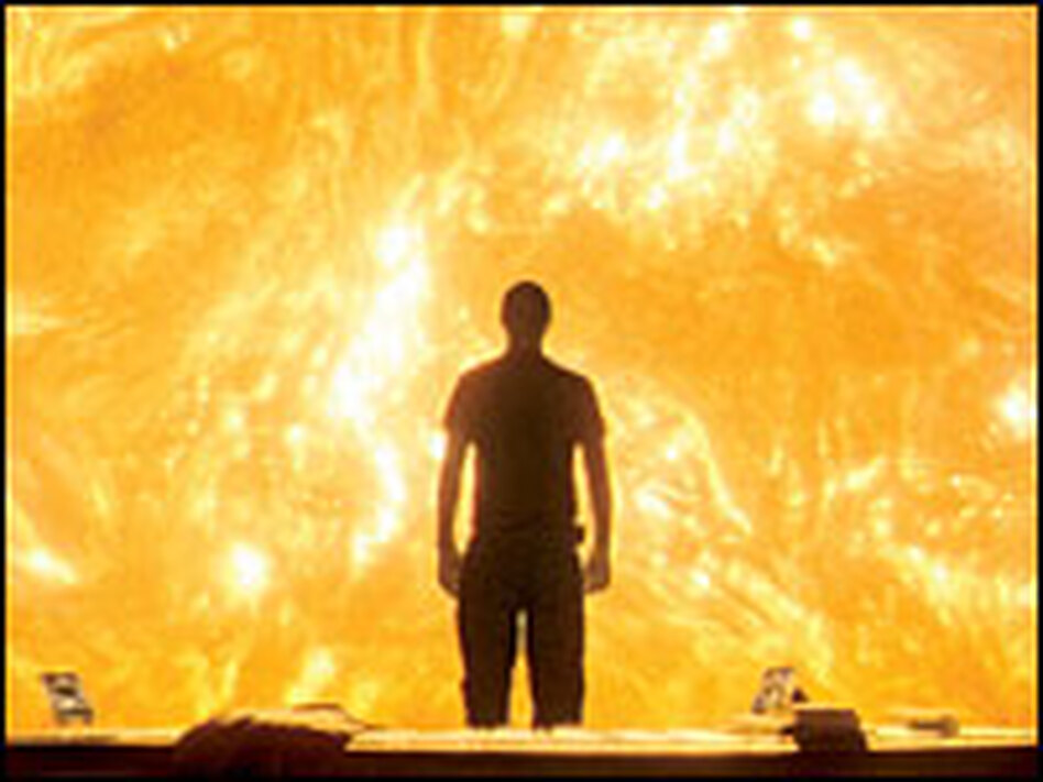 Sun spot: Searle (Cliff Curtis) broods over the fate of the <em>Icarus</em> mission from a shipboard observation room.