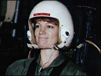 Eileen Collins, pictured during training in 1990