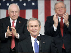 President George Bush delivers his 2006 State of the Union speech.