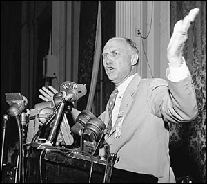 Strom Thurmond at the Caucus of Dixie in 1948