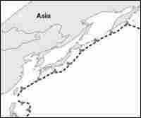 Tsunami hazard areas.