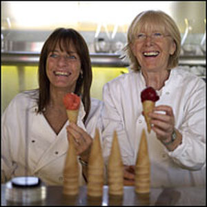 Chefs Ruth Rogers (left) and Rose Gray.
