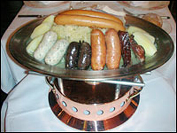 <em>Choucroute</em>, or sauerkraut, is a traditional Alsatian dish and is another of Bofinger's specialties.