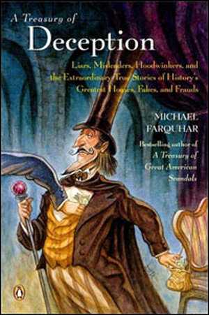 Cover of Michael Farquhar's book 'A Treasury of Deception'