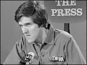 John Kerry speaks out against the Vietnam War on 'Meet the Press', April 18, 1971.